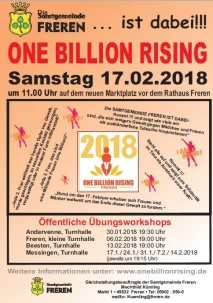 Flashmob zum One-Billion-Rising-Aktionstag 2018